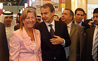 Visita del Presidente Zapatero al stand de Hutesa