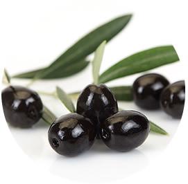 Aceituna Hutesa negra entera